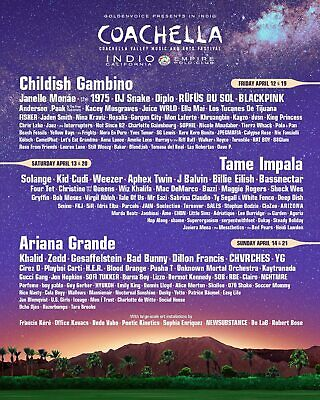 *Sold Out* Coachella: two W2 GA tickets with shuttle