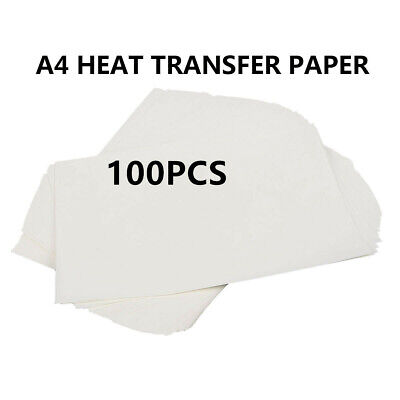 Brand New100 pcs A4 Inkjet Print Heat Transfer Sublimation Paper DIY Craft shirt
