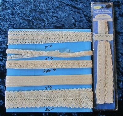 Collection of Cotton Lace and Ribbon To Doll Up Your Dolly
