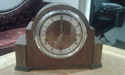 "Vintage Art Deco Bravington's ""The Renown"" mantel Clock  chiming Bedfordshire"