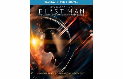 First Man (Blu-ray + DVD + Digital; 2018) NEW with Slipcover