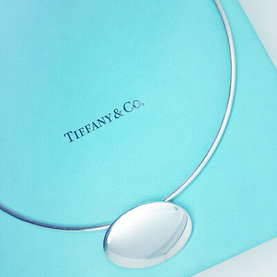 Tiffany Necklace Solid Sterling Silver Mod Oval Wire  - Real / Mint