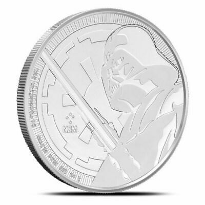 2018 Niue Darth Vader 1 oz .999 Solid Silver Coin: Star Wars Silver Bullion ~ BU