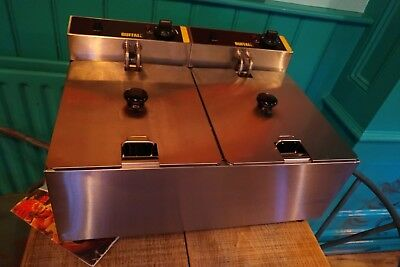 Buffalo Twin Fryer L485 2 X 5 Litre *NEW* 2800W