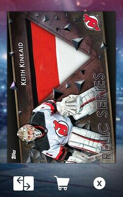 Keith Kinkaid-Relic Series Marathon Base Away-Topps Skate 19 Digital