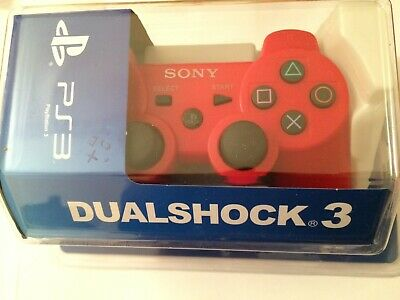 WIRELESS CONTROLLER PS3 RED dualshock 3 sony MANETTE BLISTER SEALED NEUF