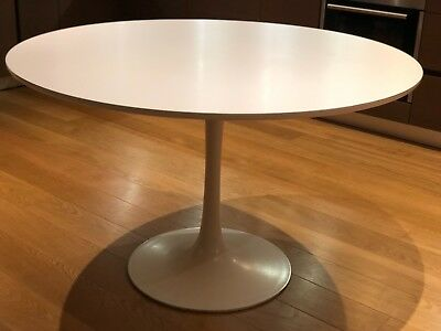 Tulip dining table, original mid-century, white