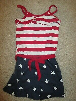 1836f11f1e8 NWT Girl Red White Blue Shorts Romper Patriotic Size 5 6 THE CHILDREN S  PLACE