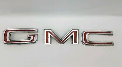 GMC Truck Emblem Metal Nameplate Badge