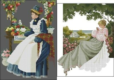 County Fair & Nantucket Rose - Cross Stitch Chart - Digital Format