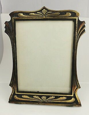 Antique Cast Iron Picture Frame CHICAGO HARDWARE FOUNDRY Deco Copper 1920s LRG