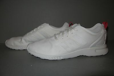5244bacd7 WOMEN ORIGINALS ZX FLUX SMOOTH SHOES SIze 8.5 White Red Running Shoe