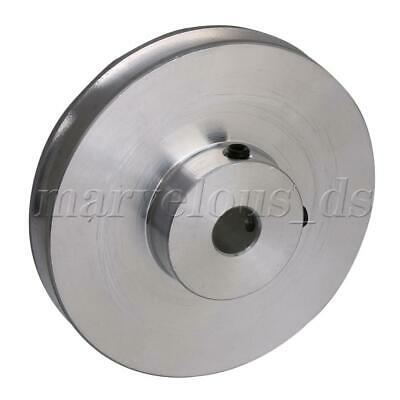 Silver Aluminum Alloy Single Groove Fixed Bore Step Pulley for Round Belts