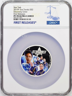 2019 Star Trek: Discovery Crew 2oz .9999 Silver Proof $2 Coin NGC PF70 FR