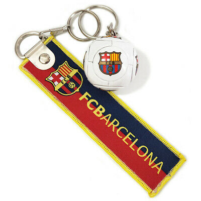 Barcelona FC Plastic Badge Football Soccer Club Team Keychain KeyRing Fans Gift