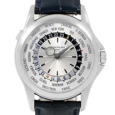 Patek Philippe World Time Complications White Gold Watch 5130 Box Papers