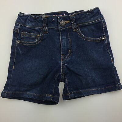 Girls size 2, Piping Hot, stretch denim jean shorts, adjustable, GUC