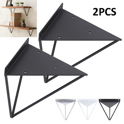 2X Shelf Brackets Metal Prism Mount Floating Wall Mount Support Leg UK