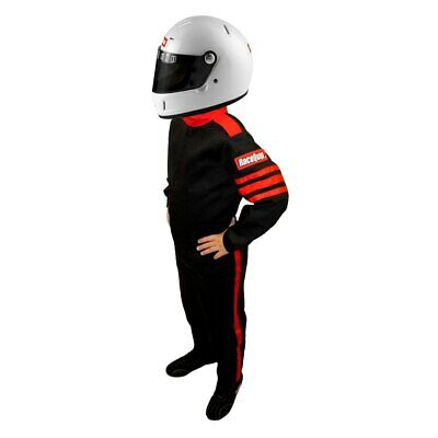 RaceQuip 1959995 One Piece Racing Driver Fire Suit SFI 3.2A/ 1; BLACK Youth / Jr