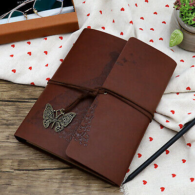 Leather A5 Photo Album Scrapbook Memory Book for Travel Graduation Family Gift