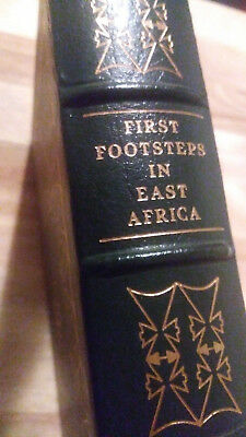 FIRST FOOTSTEPS IN EAST AFRICA by Richard Burton - Easton Press Leather RARE