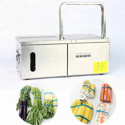 220V Automatic Desktop OPP Tape Strapping Binding Machine Vegetable Tying Tool