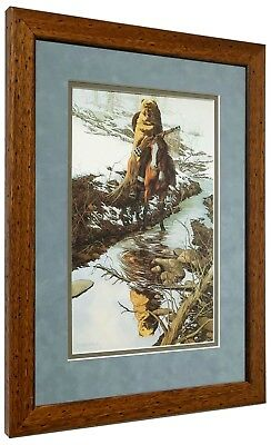 """Bev Doolittle  """"Spirit of the Grizzly""""  Matted and Framed Art Print Suede Mat"""
