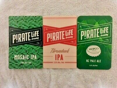 Tap Beer Decals Pirate Life Badge Top Plastic Carlton Owned Ex Pub FREE POSTAGE
