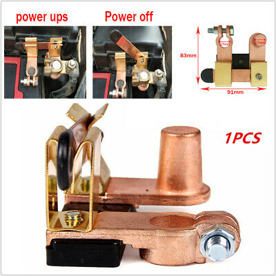 Battery Disconnect Knife Blade Switch Top Post Brass Shut off 12-24V Auto Boat