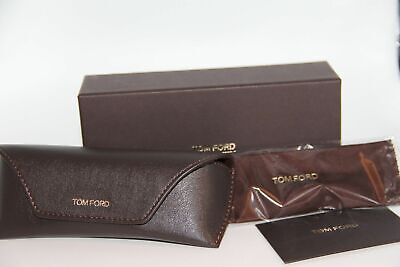 New Tom Ford Sunglasses Eyeglasses Optical Leather Brown Case Case