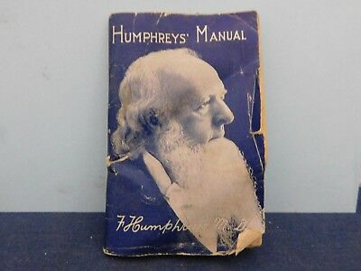 Vintage 1927 Humpherys' Manual by F Humphreys MD Treatment of Disease