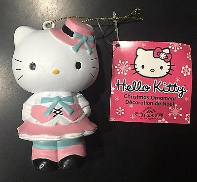 Hello Kitty Christmas Ornament Kurt Adler Holiday Decoration New With Tag Pink
