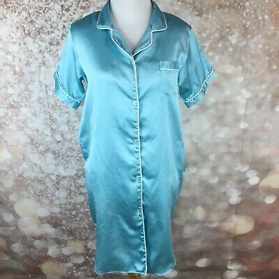 JENNIFER DALE For Kids Vintage Girls Blue Button Down Nightgown Night Shirt 12