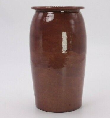 "Richard Dunsworth 1942 Antique Vtg Vase Stoneware Art Studio 6"" Pottery Signed"