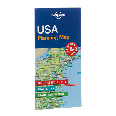 NEW Lonely Planet USA Planning Map