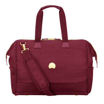 NEW Delsey Montrouge Tote Reporter Bag Red