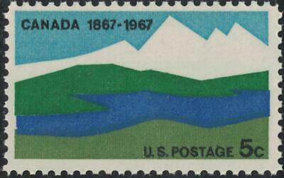 Scott 1324- Canada, 100 Years- MNH 5c 1967- unused mint US stamp