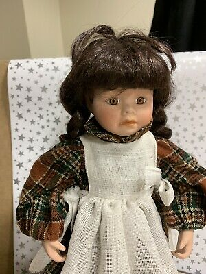 Porcelain doll - Country Style .