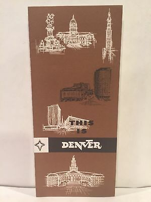 1960s THIS IS DENVER US National Bank State Facts Travel Guide Brochure and Map
