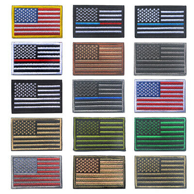"""Hot US American Flag Logo Embroidered Patch Sew on Iron On Applique 3.1"""" x 2"""""""