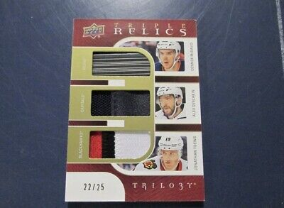 2018-19 UD Trilogy Triple Relics McDavid Ovechkin Stick Toews Patch /25!