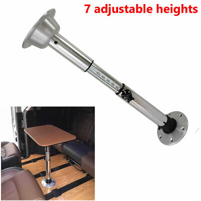 22-28 Inch Marine Boat RV Aluminum Adjustable Table Pedestal With Removable Base