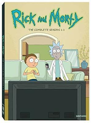 Rick And Morty: The Complete Seasons 1-3 (DVD, 2019, 6-Disc Set) Brand New
