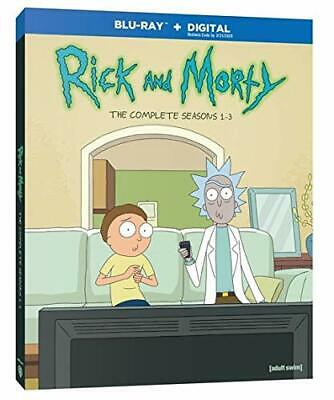 Rick And Morty: The Complete Seasons 1-3 (Blu-ray, 2019, 3-Disc Set) Brand New
