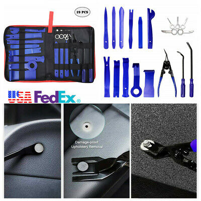 19Pcs Car Audio Removal Installation Tool Door Panel Clips Removal Kit Universal