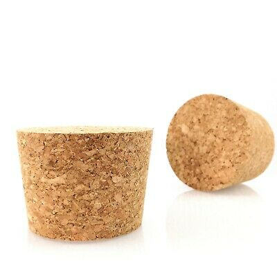 Large Tapered Solid Cork Bung Stopper Bottle Demijohn  63/70 mm Free P&P