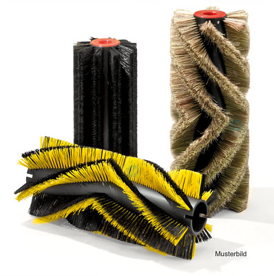 Roller Brush for Kärcher Kmr 1000 T / km 90/45r, Poly 0,5 Smooth Black Mixed