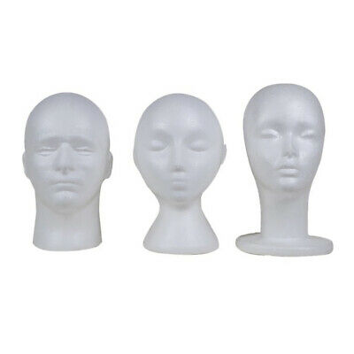 PE Mannequin Head Model Hat Cap Wig Sunglasses Display Stand Rack White Salable