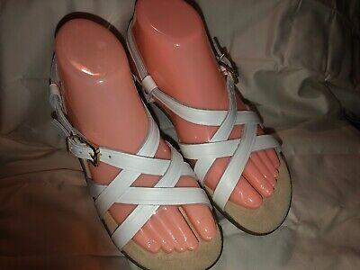 43e8b61029c9 G.H. Bass Sunjuns White Leather Gladiator Slingback Sandals EUC! Cute! Women s 7M