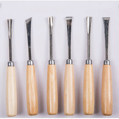 6 Piece Wood Carving Hand Woodworkers Blade Chisel Set Carving Blade Tool LH